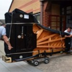Parbold Douglas Music's Steinway arrives in Parbold