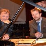 Pianists Nikolai Demideno and David Daniels in Parbold